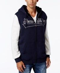 Sean John Banner Jacket With Contrast Sleeves Navy