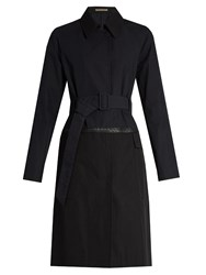 Bottega Veneta Showerproof Cotton Blend Trench Coat Navy