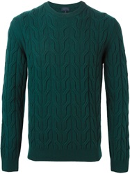 Lanvin Cable Knit Sweater Green
