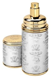 Creed Silver With Gold Trim Leather Atomizer