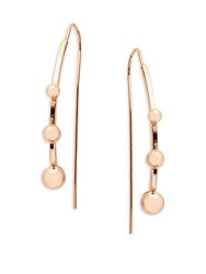 Jules Smith Designs Triple Bauble Threader Earrings Rose Gold