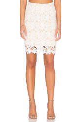 Wyldr Love A Lot Lace Skirt White