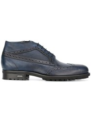 Baldinini Perforated Detailing Ankle Boots Blue