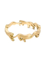 Marc Alary 18Kt Gold 'Cheetah Cycle' Ring Metallic