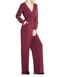 Bcbgeneration V Neck Chiffon Wide Leg Jumpsuit