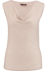 Donna Karan Draped Cashmere Top Gray