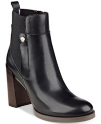 Tommy Hilfiger Britton Ankle Booties Women's Shoes Black