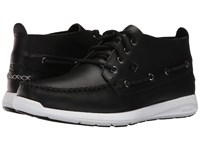 Sperry Sojourn Chukka Leather Boot Black Men's Lace Up Boots