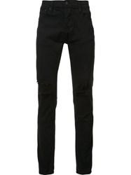 Stampd Distressed Skinny Jeans Black