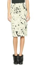 Rag And Bone Tail Zip Skirt Animal Gable