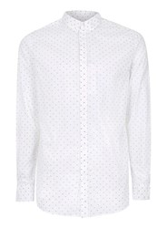 Selected Homme White And Black Arrow Button Down Shirt