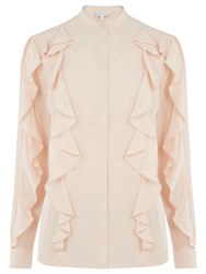 Warehouse Ruffle Detail Blouse Light Pink