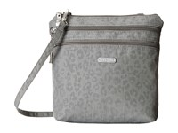 Baggallini Zipper Bag Pewter Cheetah Cross Body Handbags