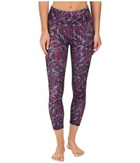 Beyond Yoga Lux Print Capri Leggings Brushwork Women's Casual Pants Multi