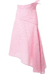 Awake 'Matelasse' Asymmetric Skirt Pink And Purple