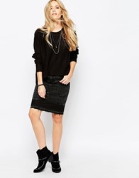 Cheap Monday Opposite Denim Skirt Lord Black