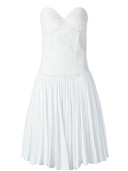 A.F.Vandevorst '152 Decisive' Strapless Dress White