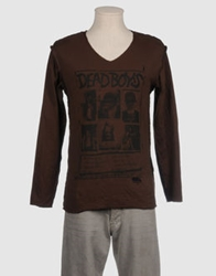 Liquid Long Sleeve T Shirts Dark Brown