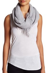 14Th And Union Frayed Knit Infinity Scarf Gray