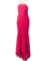 Marchesa Notte Embellished Detail Gown Red