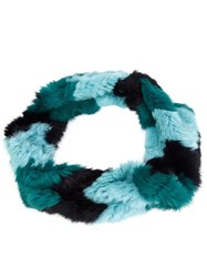 Jocelyn Chevron Infinity Scarf Blue