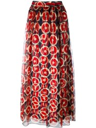 Marc Jacobs Circle Print Maxi Skirt Blue