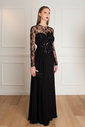 Elie Saab Lace Beaded Dress Black