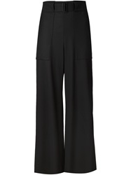 Issey Miyake Belted Wide Leg Trousers Black
