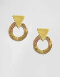 Made Mix Shape Stud Earrings Gold