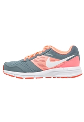 Nike Performance Air Relentless 4 Cushioned Running Shoes Blue Graphite White Lava Glow Bright Crimson Dark Blue