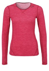 Odlo Revolution Warm Undershirt Sangria Melange Red