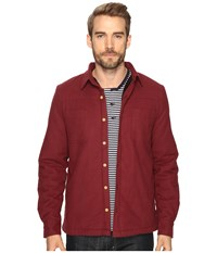 Threads For Thought Sherpa Lined Solid Workshirt Wine Men's Clothing Burgundy