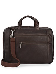 Kenneth Cole Columbian Leather Briefcase Brown