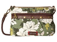 Sakroots Artist Circle Campus Mini Olive Flower Power Cross Body Handbags Brown