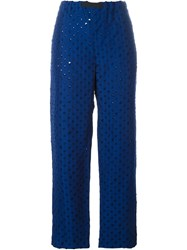 Ports 1961 Open Work Trousers Blue