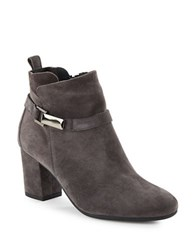 Paul Green High Heel Suede Booties Grey