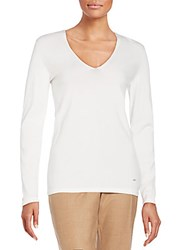 Akris Knit Long Sleeve Top Calcite
