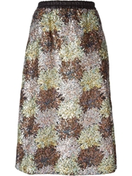 Iceberg Sequins Embroidered Flower Pattern Skirt Multicolour
