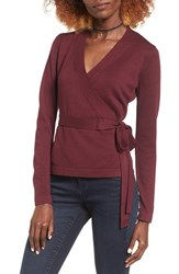 Glamorous Women's Wrap Sweater Wine