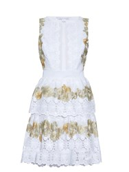 Diane Von Furstenberg Calandra Dress White Gold