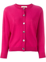 Vanessa Bruno Classic Cardigan Pink And Purple