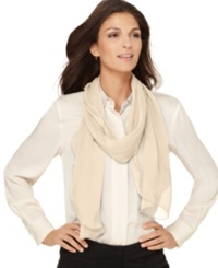 Style And Co. Chiffon Lettuce Edge Wrap Champagne