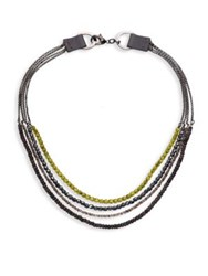 Peserico Layered Short Chain Necklace Multi