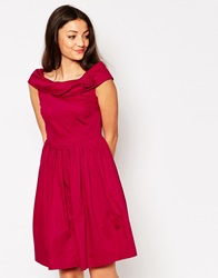 Emily And Fin Emily And Fin Norma Off The Shoulder Dress Red