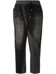 Mihara Yasuhiro Twisted Denim Trousers Black