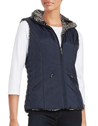 Weatherproof Faux Fur Reversible Vest Dark Denim Blue