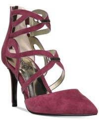Carlos By Carlos Santana Thea Pointed Toe Pumps Women's Shoes Sangria