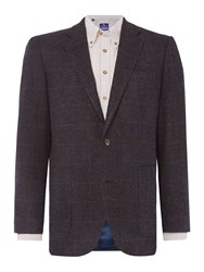 Chester Barrie Windowpane Soho Jacket Blue