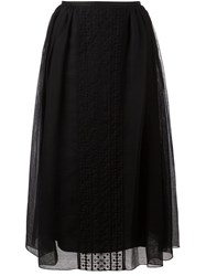 See By Chloe Embroidered Overlay Skirt Black