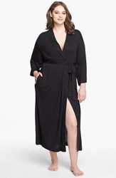 Natori Plus Size Women's 'Shangri La' Robe Black